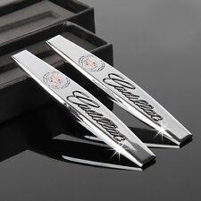 2Pcs Car Sticker Decal Emblem Badge Accessories Chrome for Cadillac All Models