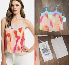 BNWT 1. State XS Sweet Factory Multi Chiffon Pleat Strappy Crop Top