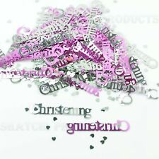 1 PK Christening Baby Girl Pink Confetti Table Decorations Party Scatter Glitz