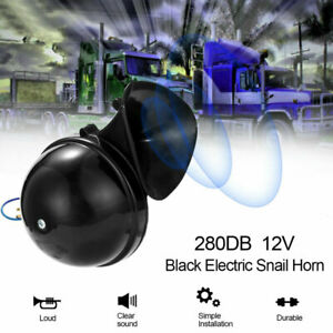 300DB 12V Electric Air Horn Loud Sound Fits For Raging Car Motorcycle Truck Boat
