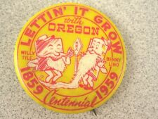 Vtg 59 Portland OR Radio Station KEX Button Pin DJ Tile Lino Advertising History