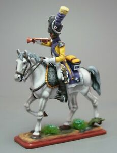 Painted Tin Toy Soldier Trumpeter of the 9th Cuirassier Regiment 54mm 1/32