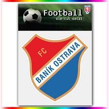 "FC Ban?k Ostrava UEFA Die Cut Vinyl Sticker Car Bumper Window 4""x4"""