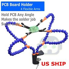 Helping Third Hand Magnifier Soldering Stand Clamp Holder Alligator Clip Tool