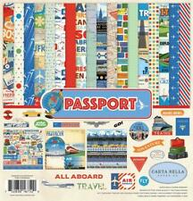 Carta Bella Paper PASSPORT 12x12 Collection Kit Vacation Travel Scrapbook