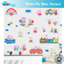 Wall Stickers Removable Peppa Pig Kids Nursery Decal Growth Chart A