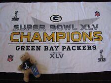 NFL Green Bay Packers Super Bowl XLV Champs Towel & Plush Teddy Bear New! (Y61)