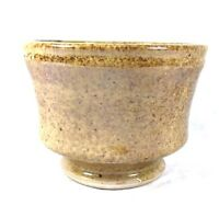 Handmade Tea Bowl Cup Studio Pottery Art Speckled Ceramic Shiny Glazed Signed