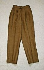 Genuine Luxury Vintage Burberry Wool Trousers, Check, Small 26/24
