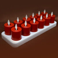 Luminara Rechargeable Flameless LED Tealight Unscented Flickering with Remote