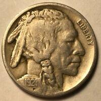 FINE 1921 Buffalo Nickel Nice Sharp Date FREE SHIPPING!