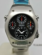 Rare recently services working Seiko Sportura Kinetic 9T82-OA20 Chronograph