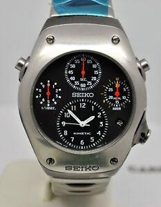 Seiko Sportura Kinetic ref: 9T82-OA20 Chronograph recent service from Seiko