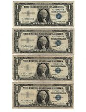 (4) 1957 One $1 Dollar Silver Certificate STAR Note Lot of 4