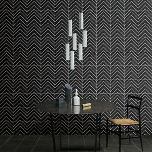 Monoline White & Black Decor Porcelain Wall & Floor Tiles 20 X 20 cm / Sqm
