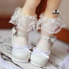 1/6 BJD Shoes Yosd Lolita lace bow white Shoes Dollfie Luts AOD DIM DOD Dollmore