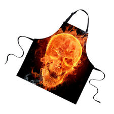 Adjustable Skull Print Cooking Bar Apron Waiter Chef Kitchen Unisex Apron#1