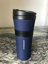 Starbucks 16oz Black & Navy Stainless Steel Tumbler Soft Touch Exterior Vac Ins