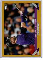 Trevor Story 2019 Topps Archives 5x7 Gold #228 /10 Rockies