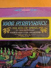 """Igor Stravinsky """"Rite of Spring"""" Pierre Boulez 33 RPM LP Nonesuch (H-71093) 1966"""