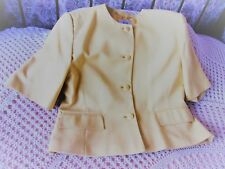 Vintage mustard yellow party jacket by VIYELLA  Size 16 Made in England