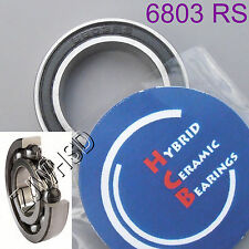6803 2rs Si3n4 Hybrid Ceramic Ball Bearing Rubber 17 X 26 X 5mm