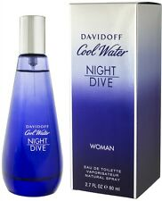 DAVIDOFF COOL WATER NIGHT DIVE FOR WOMEN-EDT-SPRAY-2.7 OZ-80 ML-AUTHENTIC-FRANCE
