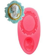 Cameo Oval Brooch Mould Fondant Chocolate Acrylic Resin Silicone Sugar Craft