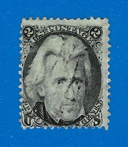 US 73, Black Jack 2c stamp of 1863, Fine used light cancel, Catalog $65.00