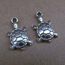 PP103 20pc Retro Tibetan Silver Dangle Charm Tortoise Beads Animals