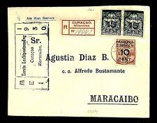 CURACAO 1930 SPEC FLIGHT CV REG... TO MARACAIBO  SPEC PM..  VF