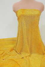 POWER MESH TIE DYED YELLOW GLITTERED FABRIC BY THE YARD DANCE, COSTUME, FORMAL