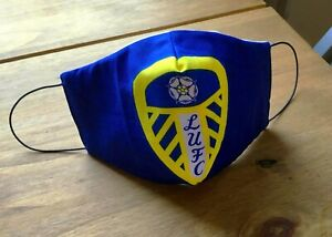 New Reversible Leeds   Face Mask / Sewn In Filters & Nose Grip  Washable