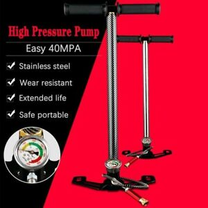 4500psi Hand Operated High Pressure PCP Pump 30mpa Air Paintball 3 Stage Mini