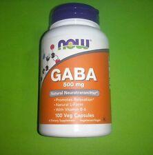 Gaba 500 mg con Vitamina B6 2 mg 100 capsulas Now