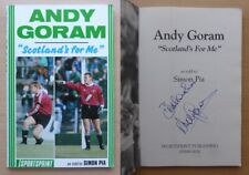 Andy Goram Scotland's for Me Signed Book Rangers, Hibernian & Oldham COA (16527)