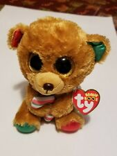 """New! 2017 Holiday Ty Beanie Boos BELLA the Bear 6"""" size IN HAND free gift w/item"""