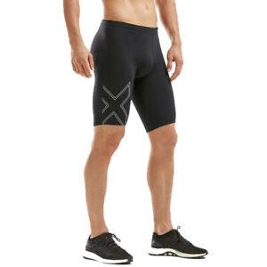 2XU Mens Aspire Compression Shorts Pants Trousers Bottoms Black Sports Running