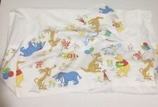 Vtg Winnie The Pooh Crib Sheet Toddler Bed Sears Half Fitted Half Flat HTF