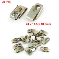 20 Pcs Car Chassis Fixed U-Type Clips/Rivets/Fastener/Nuts for Auto Panel Fender
