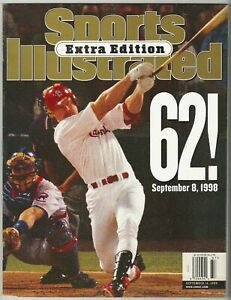 September 14, 1998 Mark McGwire 62 Extra Edition Sports Illustrated NO LABEL