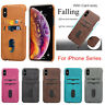 For iPhone XR XS Max 6 6S 7 8 Plus PU Leather Cover w/Card Slots Protective Case