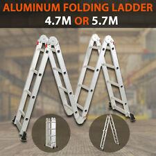 Multi Purpose Aluminium Folding Extension Ladder Step Scaffold From 8m