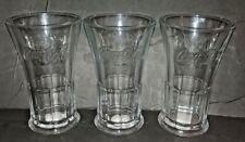 3 LIBBEY - COCA-COLA GENUINE GLASSES 16 OZ. MADE IN U. S. A. NEW- FREE SHIPPING