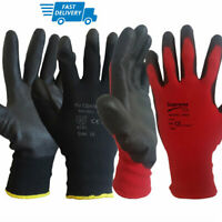 6 PAIRS • Safety Work Gloves PPE • BLACK • Great Grip • Mechanic Warehouse DIY