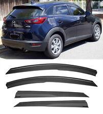 For 16-19 Mazda CX-3 Side Window Visors Vents Rain Guards JDM MUGEN Style New