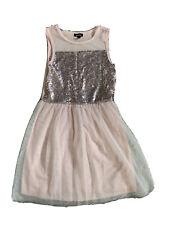 EUC Girls Zenzi Pink Sequin Tulle Party Dance Birthday Dress 10