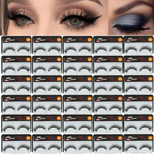 30 Pairs Long Cross False Eyelashes Makeup Natural Fake Eye Lashes Thick Black