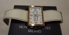 Montres De Luxe Milano Men's Estremo 16:9 Chronograph w/Date WHITE ROSE GOLD NEW