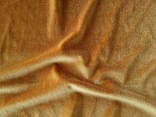 Gold 4-way stretch spandex/lycra velvet  velour fabric